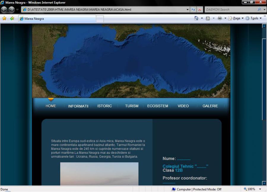 Atestat informatica Marea Neagra