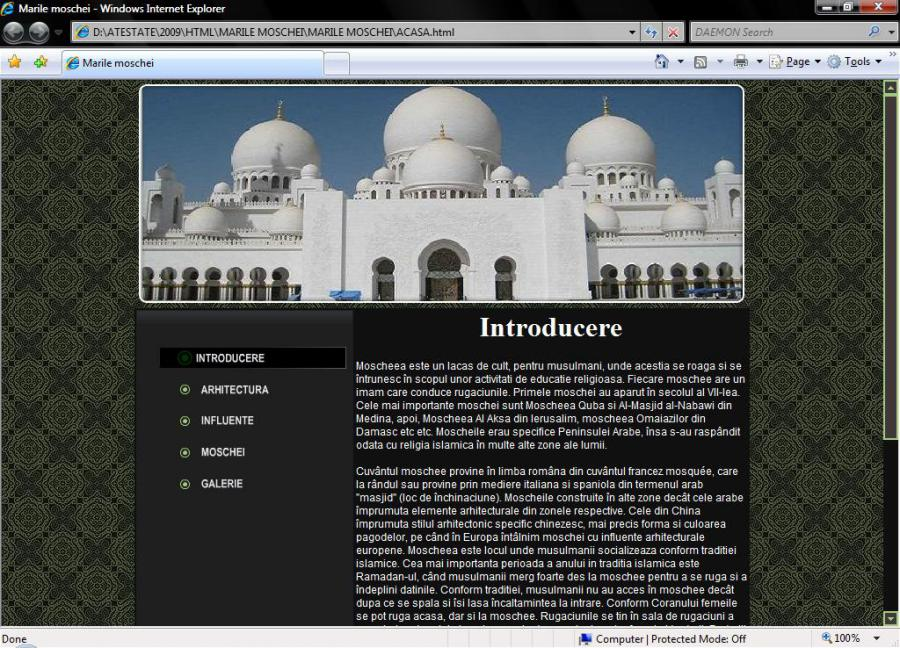 atestat informatica marile moschei ale lumii