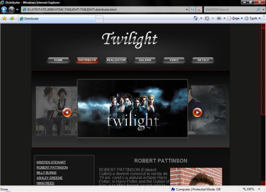 Atestat informatica Twilight