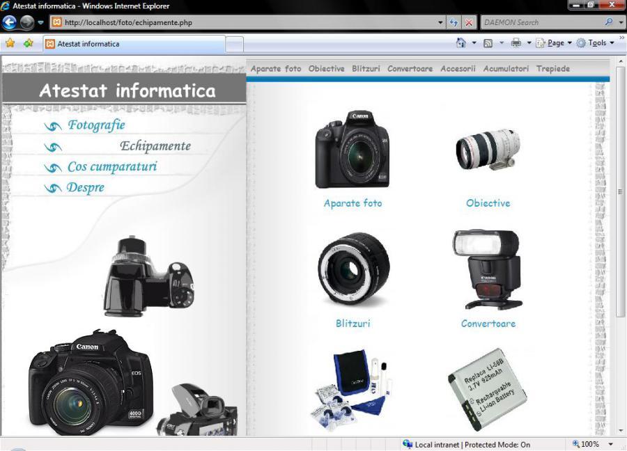 Atestat informatica Fotografie si echipamente fotografice