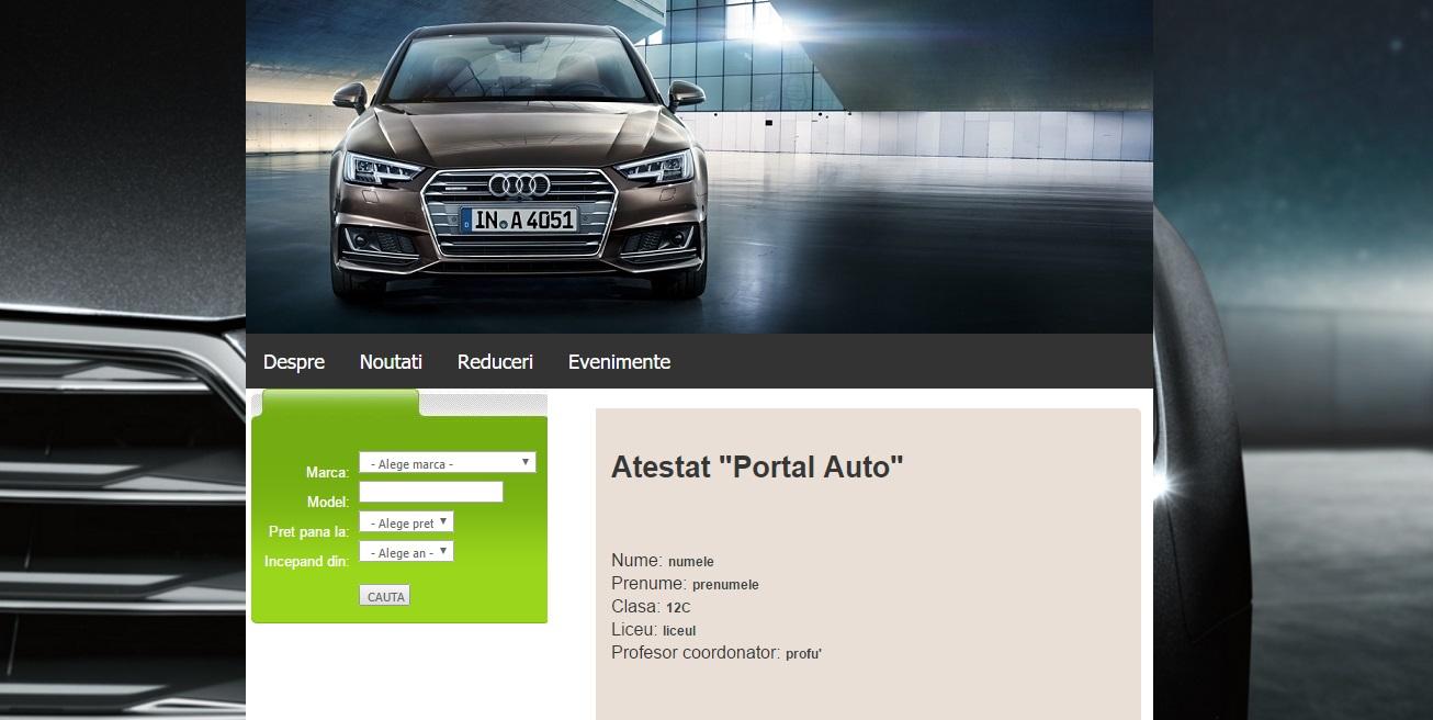 Atestat informatica Portal auto
