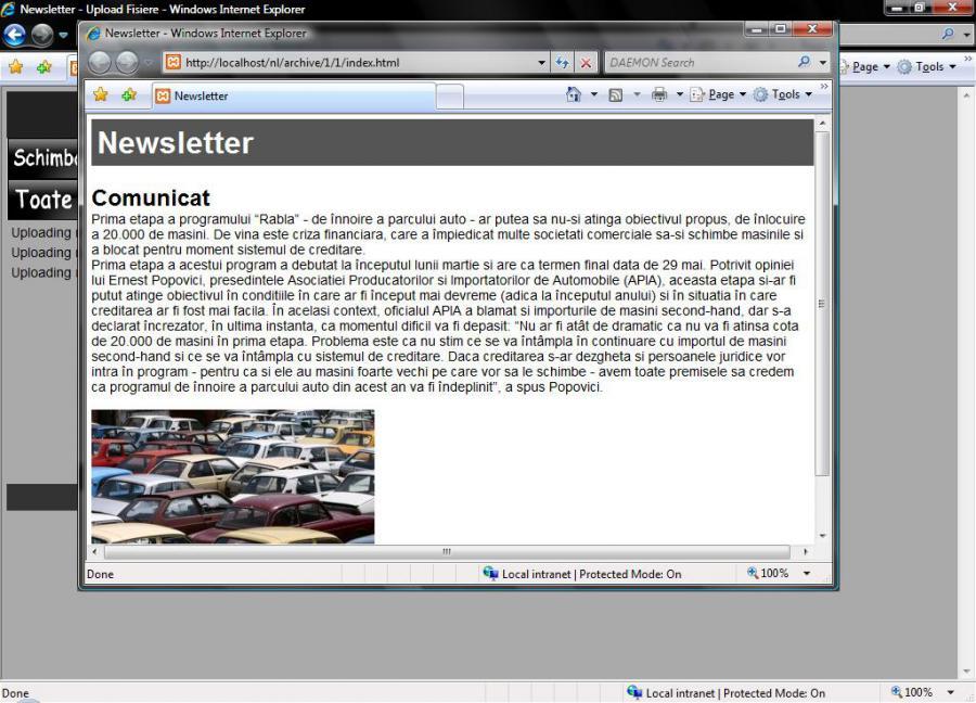 Atestat informatica Newsletter