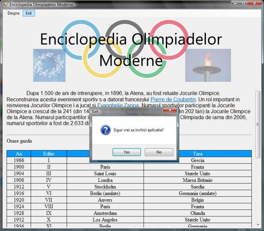 Atestat informatica Enciclopedia Olimpiadelor Moderne