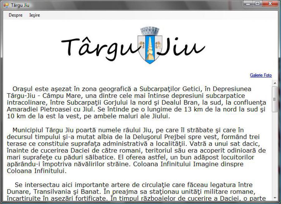 Atestat informatica Targu Jiu