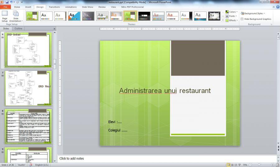 Atestat informatica Informatizarea activitatii unui restaurant