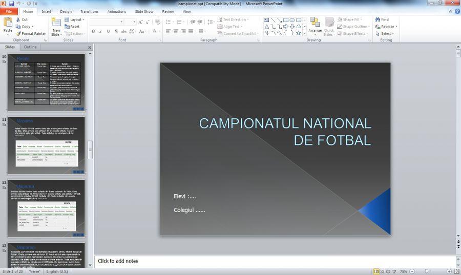 Atestat informatica Campionat de fotbal