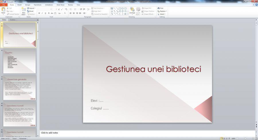 Atestat informatica Administrarea unei biblioteci