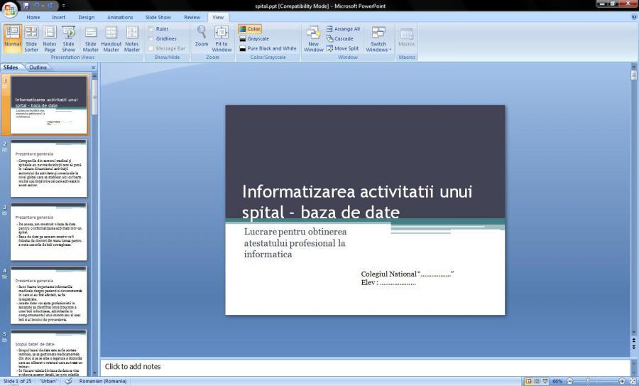 Atestat informatica Informatizarea activitatii unui spital