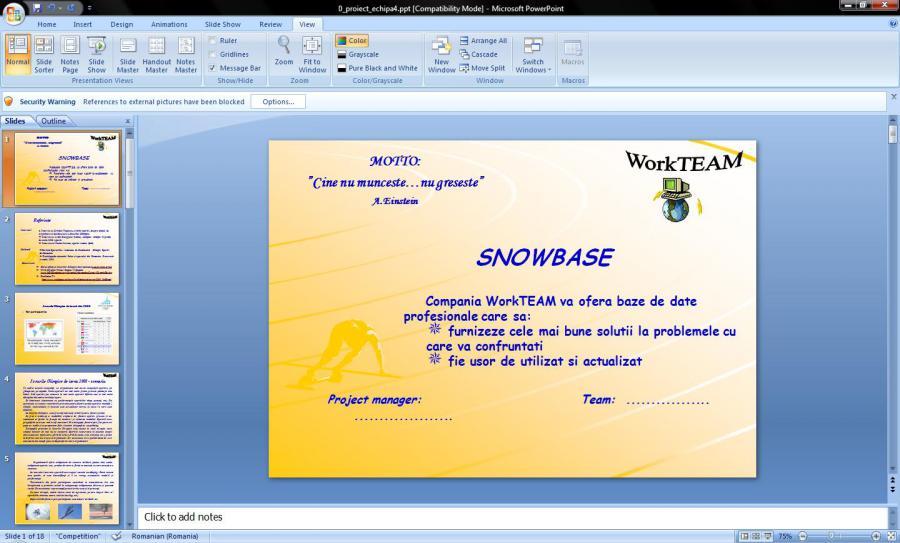 Atestat informatica Jocurile olimpice de iarna