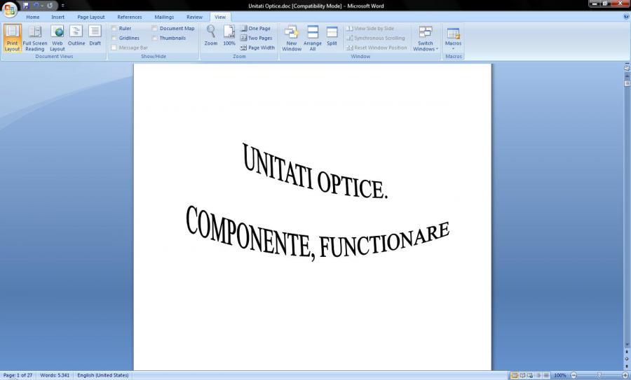 Atestat informatica Unitati optice