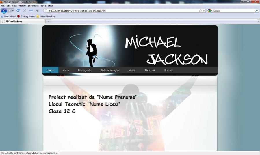 atestat informatica Michael Jackson
