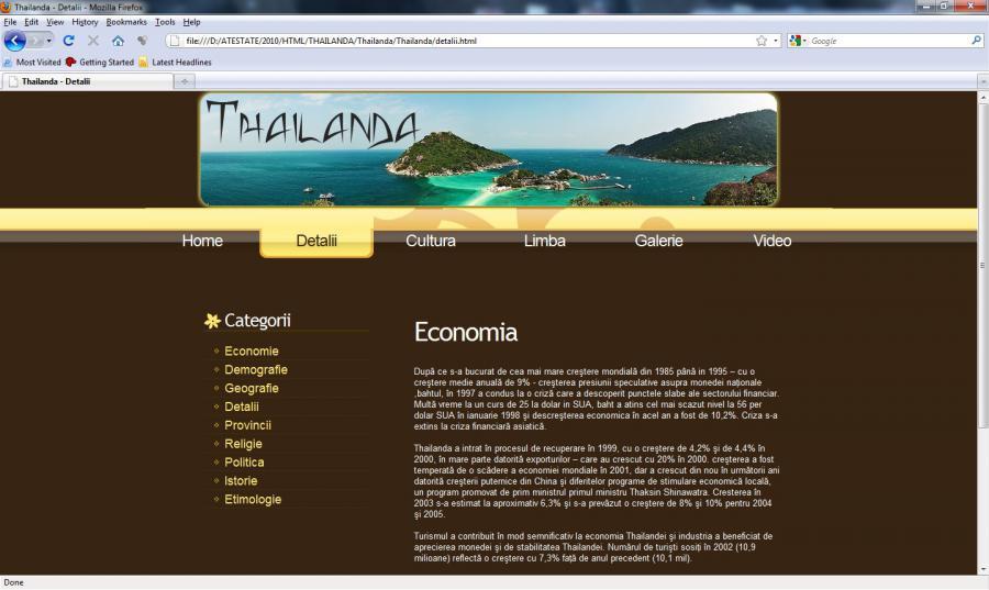 Atestat informatica Thailanda