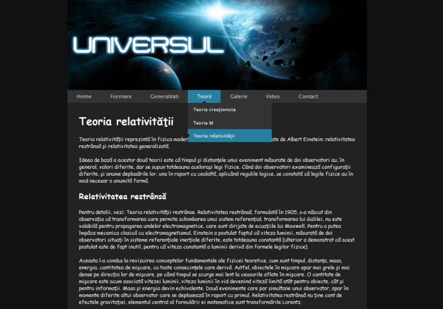 Atestat informatica Universul