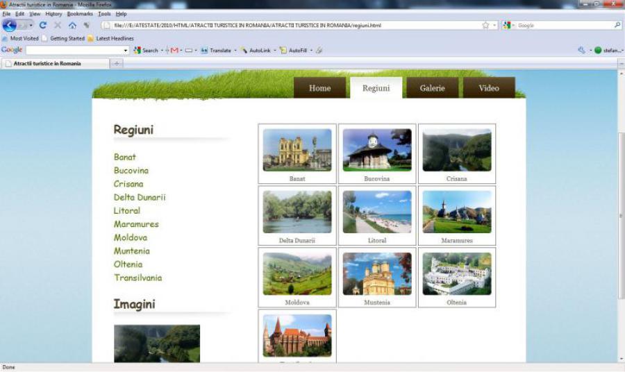 Atestat informatica Atractii turistice in Romania