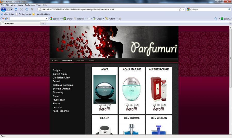 Atestat informatica Parfumuri