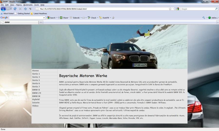 Atestat informatica BMW