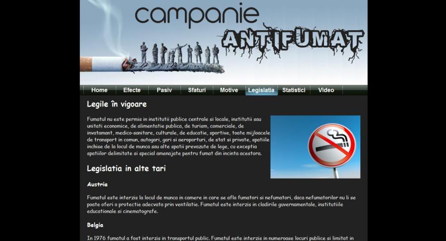 Atestat informatica Campanie Anti Fumat
