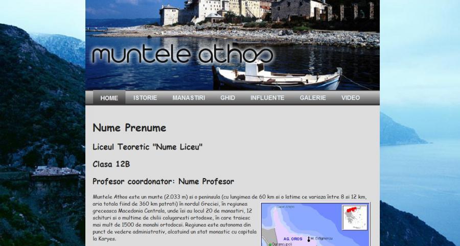 Atestat informatica Muntele Athos