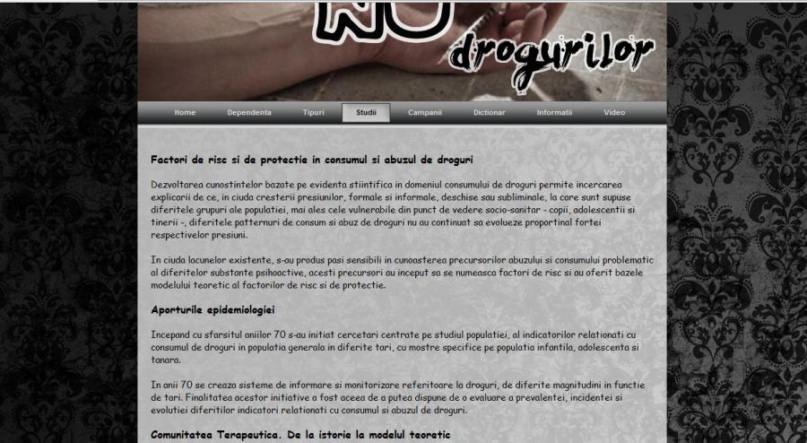 Atestat informatica Campanie antidrog