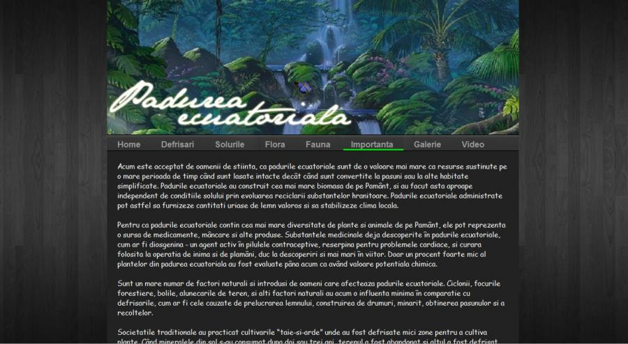Atestat informatica Padurea ecuatoriala