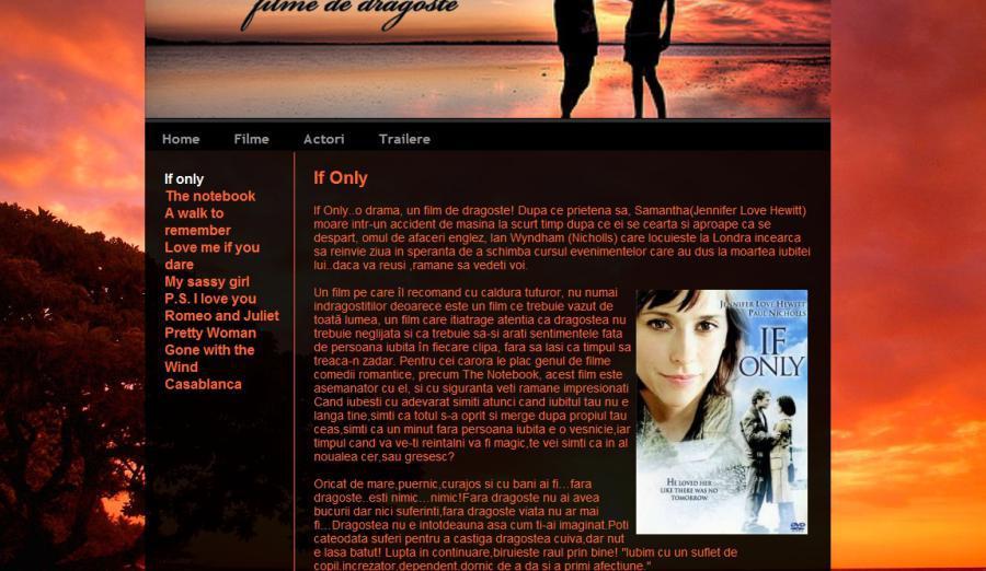 atestat informatica filme romantice