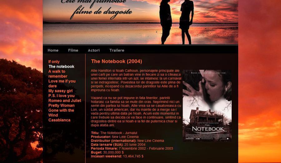 Atestat informatica Filme de dragoste