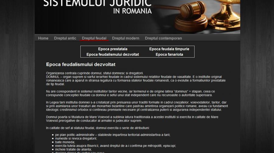 Atestat informatica Evolutia sistemului juridic in Romania