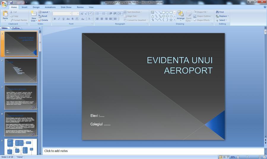 Atestat informatica Aeroport
