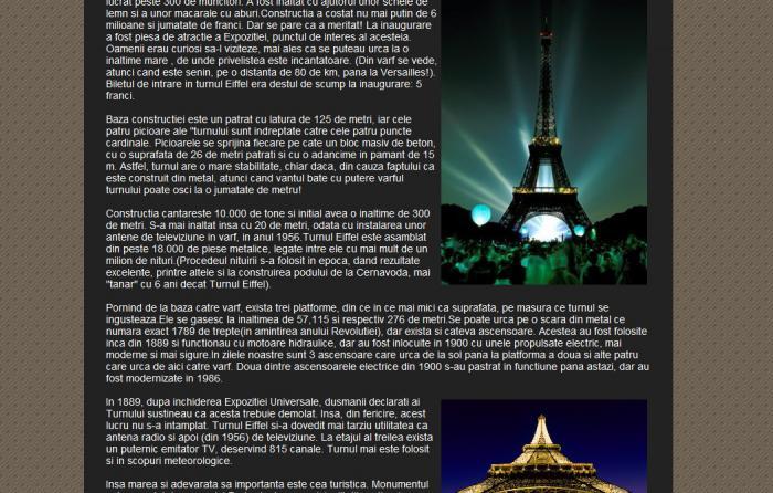 Atestat informatica Turnul Eiffel