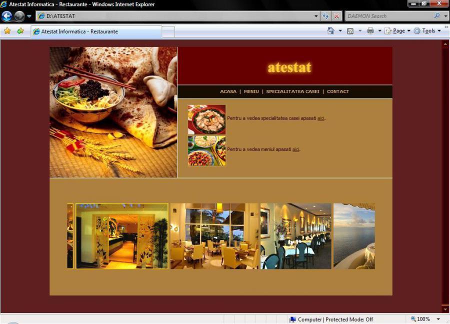 Atestat informatica Restaurant