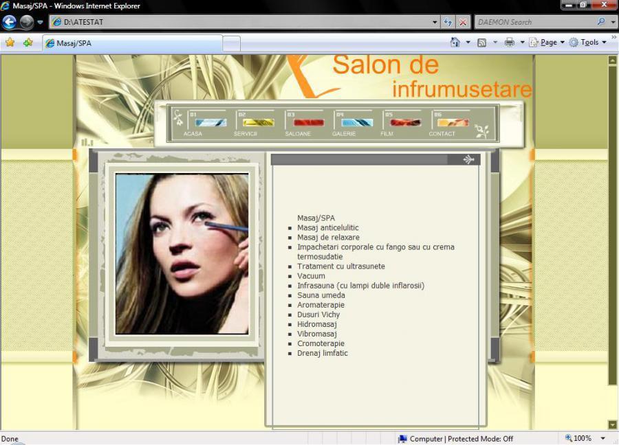 Atestat informatica Salon de infrumusetare