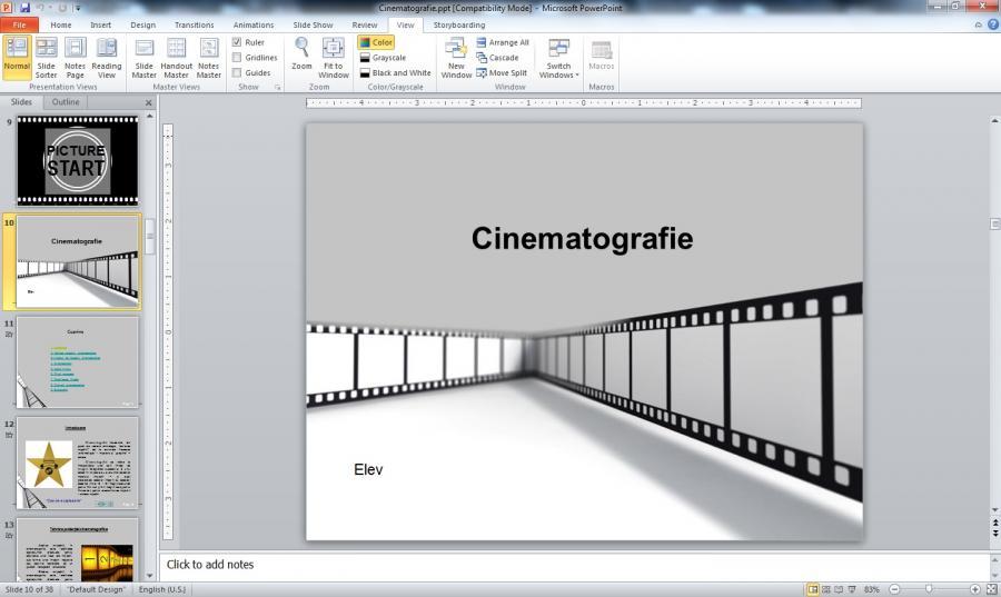 Atestat informatica Cinematografia
