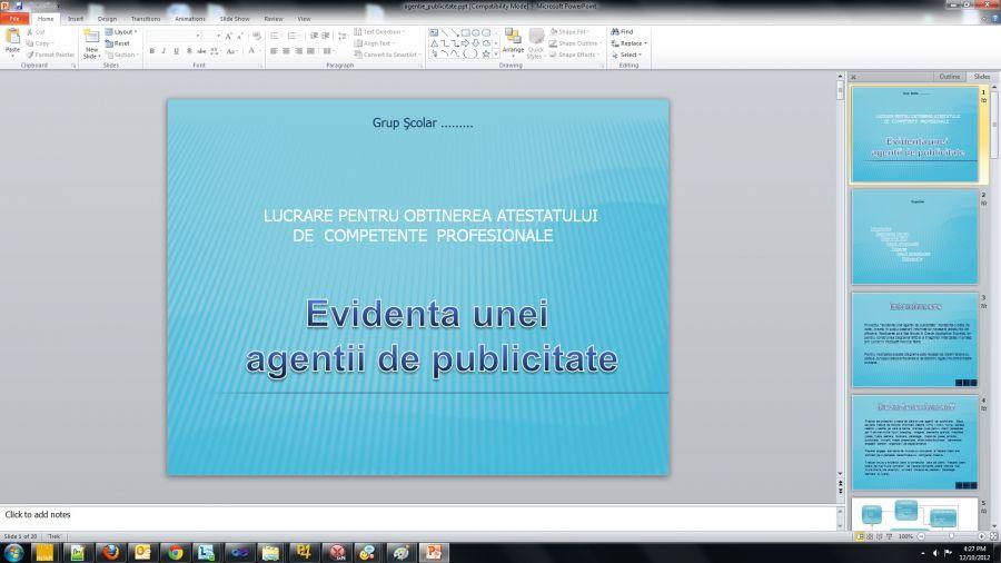 Atestat informatica Agentie de publicitate