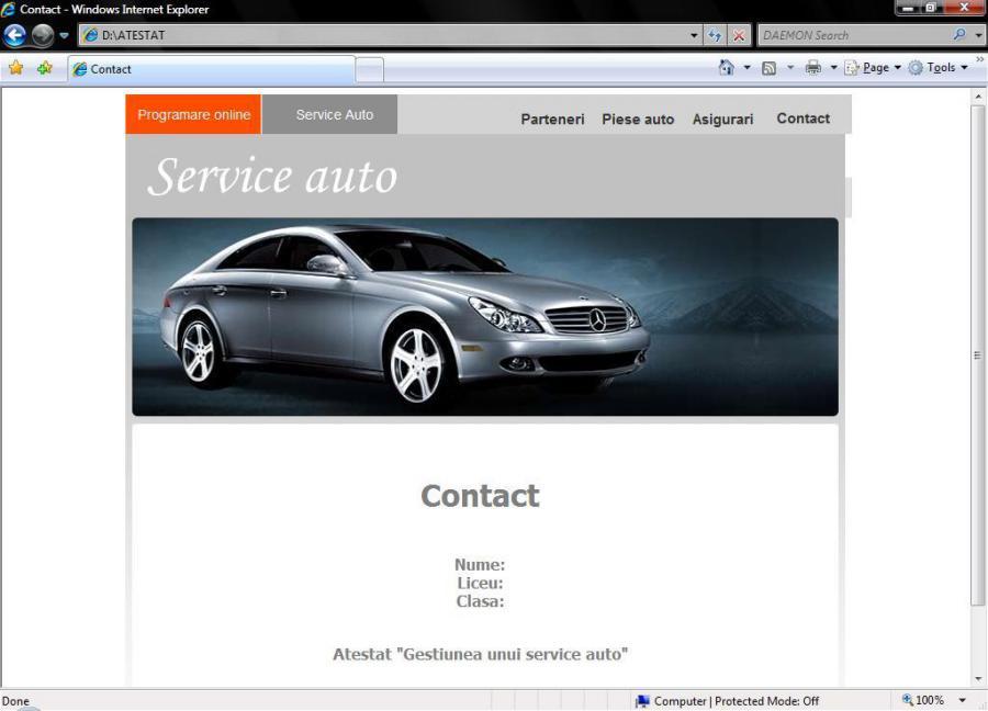 Atestat informatica Service auto