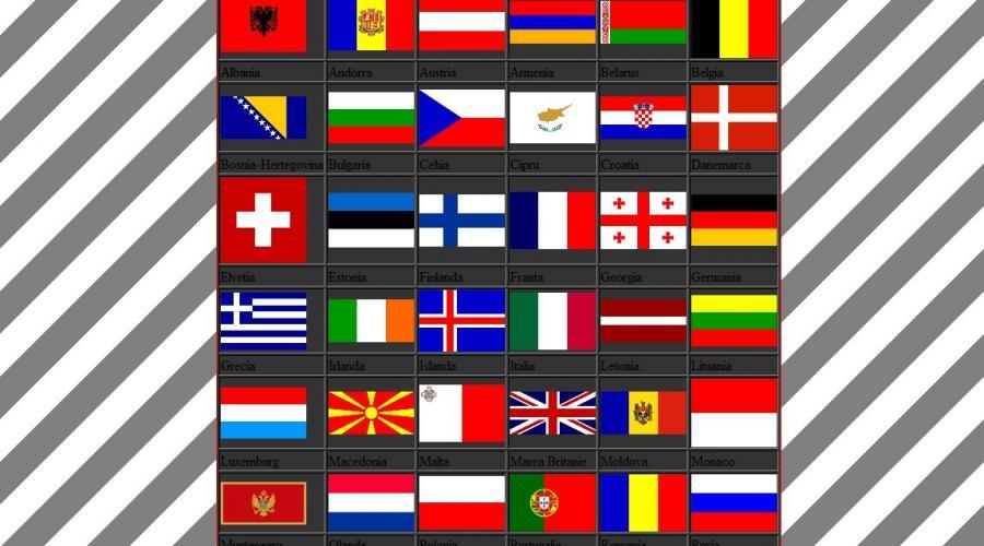 Atestat informatica Tarile Europei