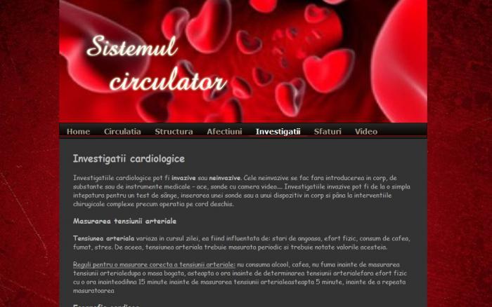 Atestat informatica Sistemul circulator