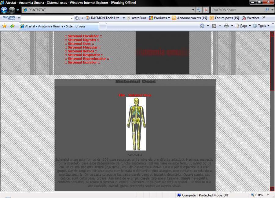 Atestat informatica Anatomia umana