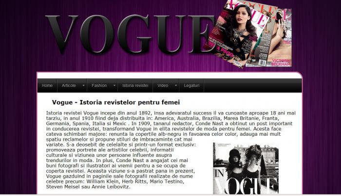 Atestat informatica Revista Vogue