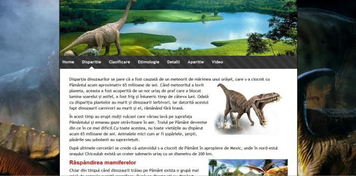 atestat informatica dinozaurii