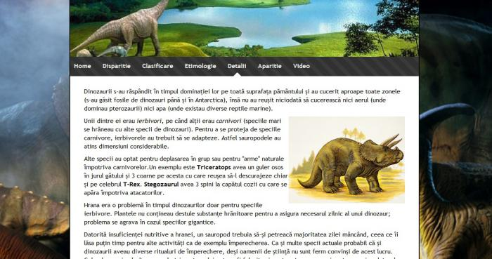 Atestat informatica Dinozauri
