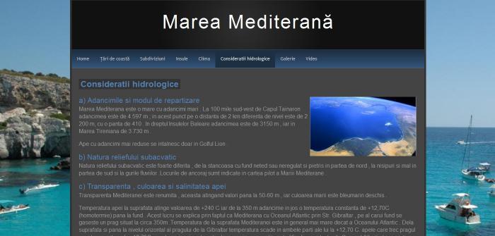 Atestat informatica Marea Mediterana