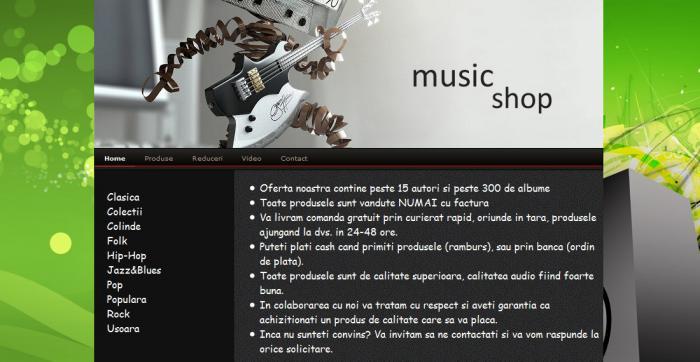 atestat informatica magazin de muzica