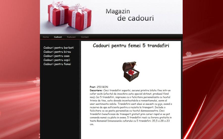 Atestat informatica Magazin online de cadouri