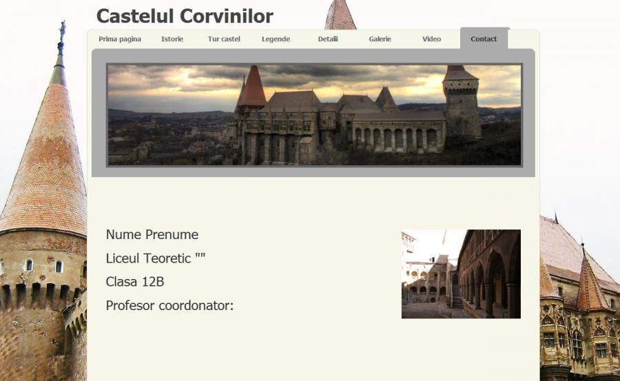 Atestat informatica Castelul Corvinilor
