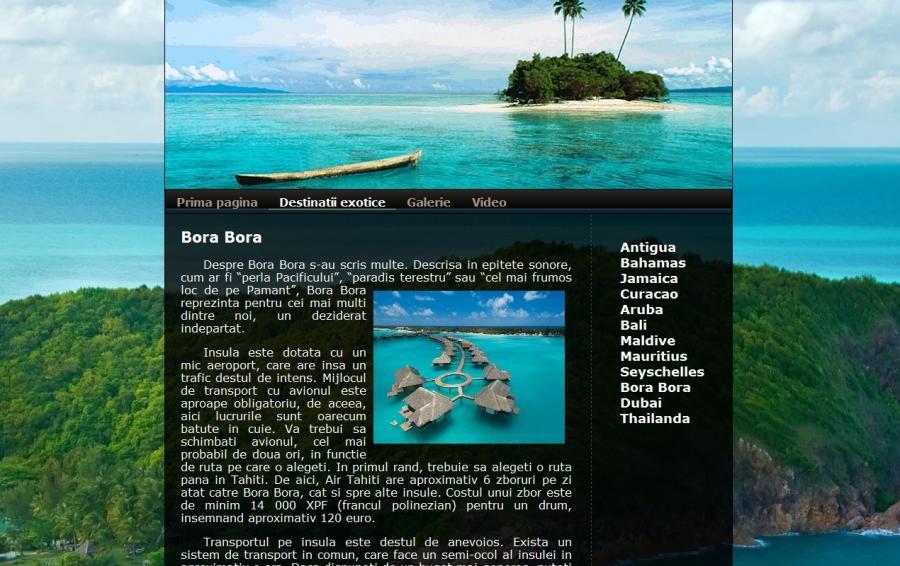 Atestat informatica Destinatii exotice
