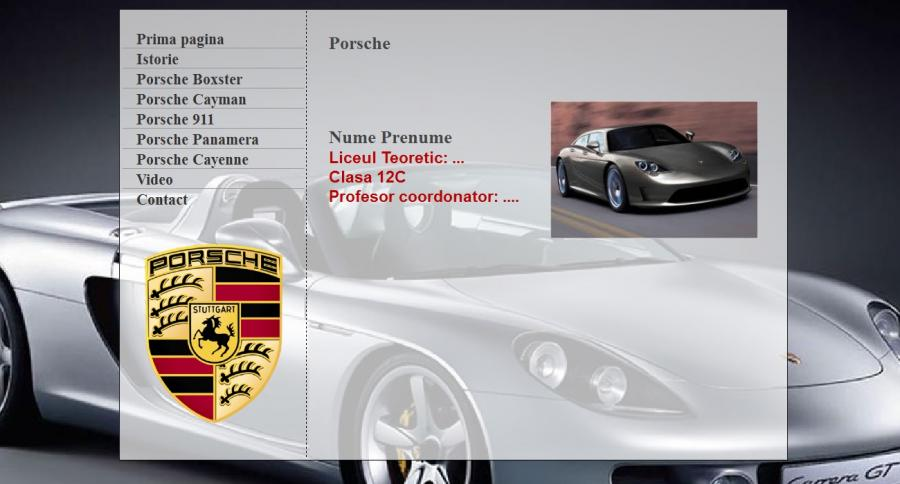 Atestat informatica Porsche