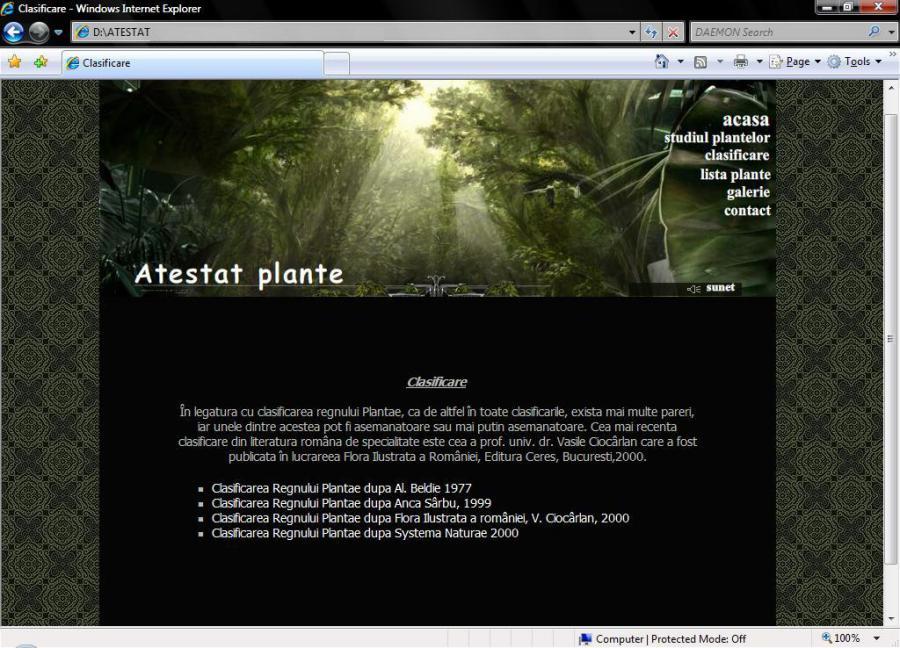 Atestat informatica Plante