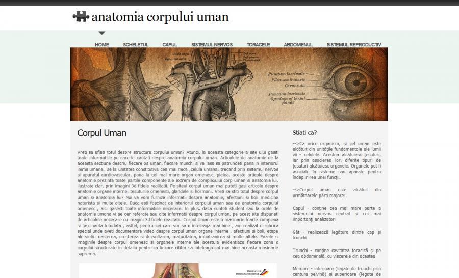 Atestat informatica Anatomia corpului uman
