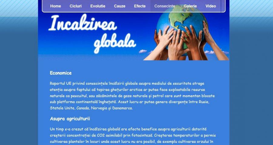 Atestat informatica Incalzirea globala