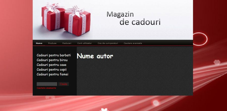 Atestat informatica Magazin de cadouri